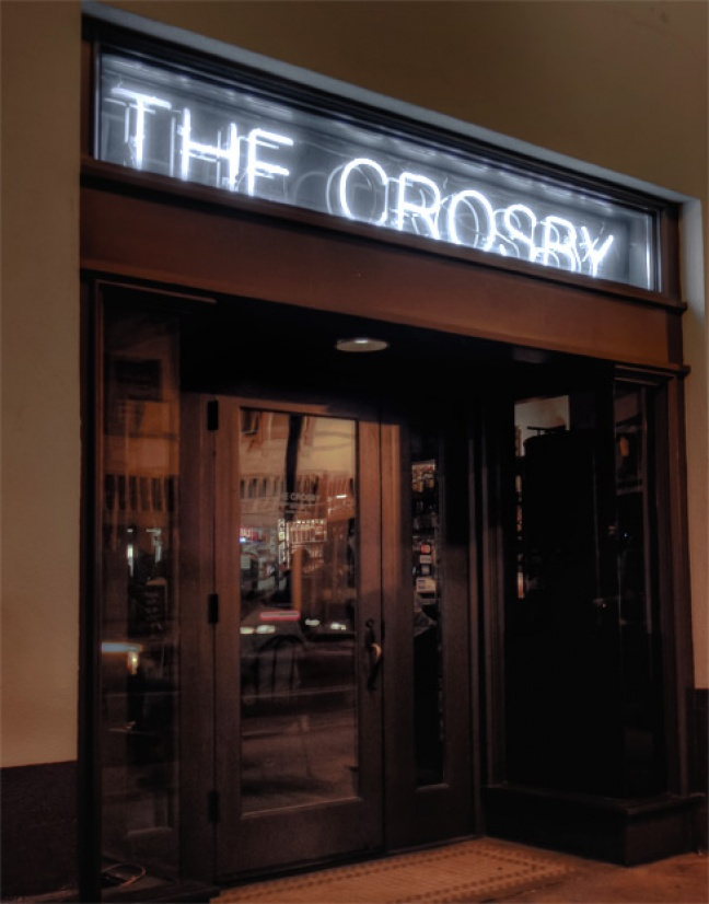 The incident occurred outside the Crosby located in downtown Santa Ana, Jan. 20, 2014.